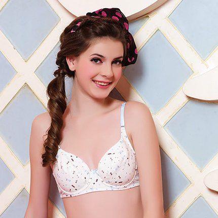 Teen and pantie junior models bra