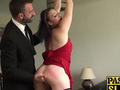 Husband slaps wifes ass while fucking