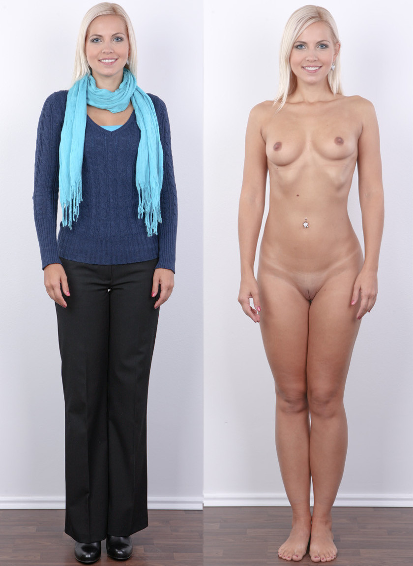 Naked with and without clothes