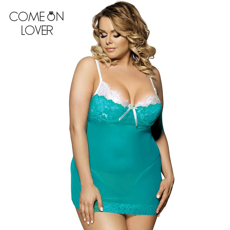Green plus size lingerie