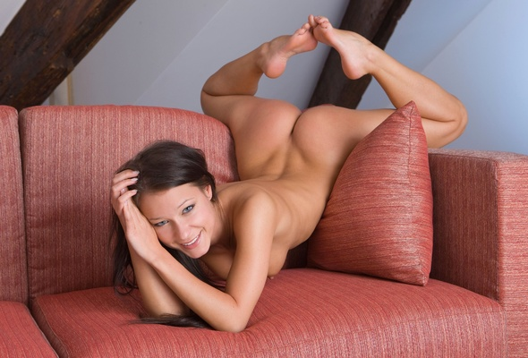 Sexy girl with sexy feet naked