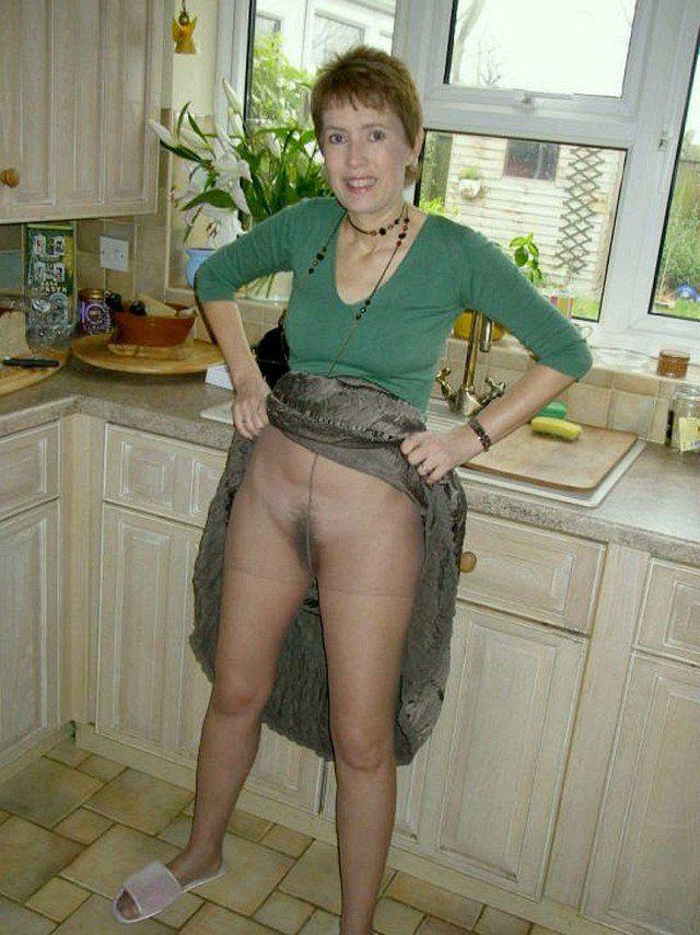 Pussy upskirt mature granny
