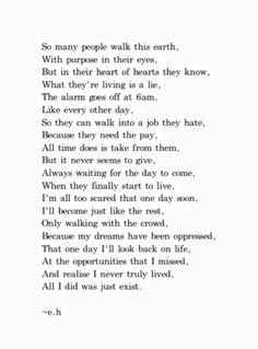 Agers encouraging poem teen