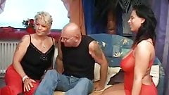 Horny mature slut threesome