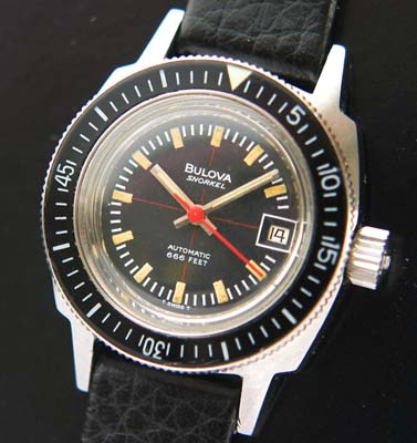 Sale vintage bulova dive watch
