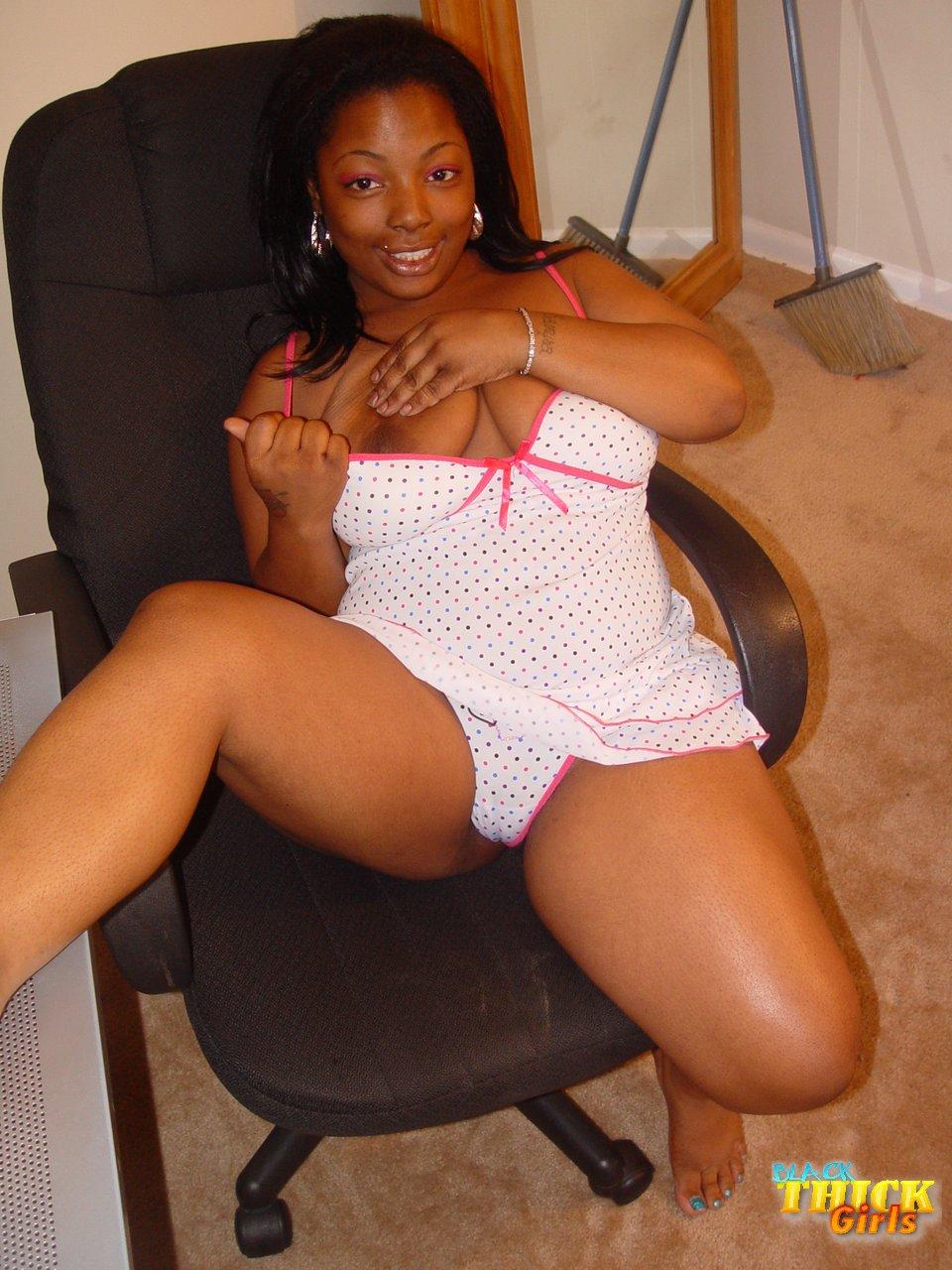 Solo girl black bbw thick