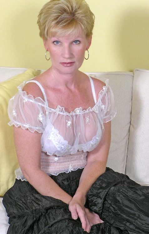 Blouse in through woman sheer mature see