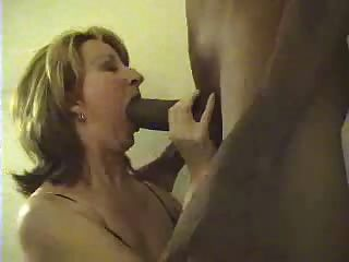 Sucking huge black cock