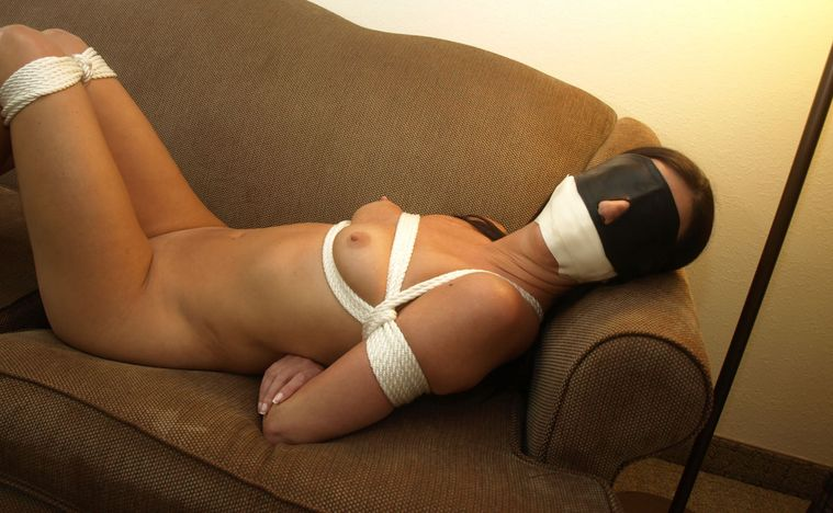 Naked women tied up gagged blindfolded