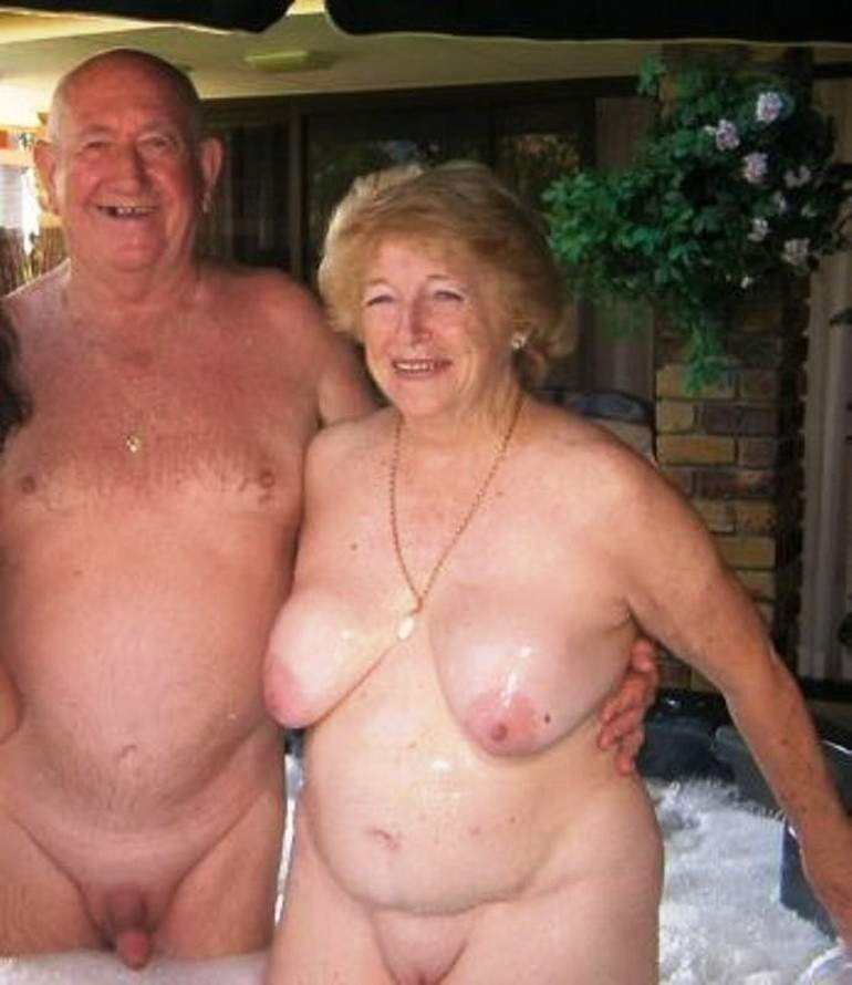 Mature senior nudist couples