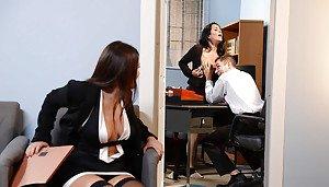 Professional women at work selfie