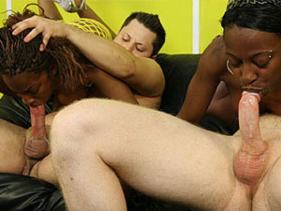 Girls licking cum from cocks
