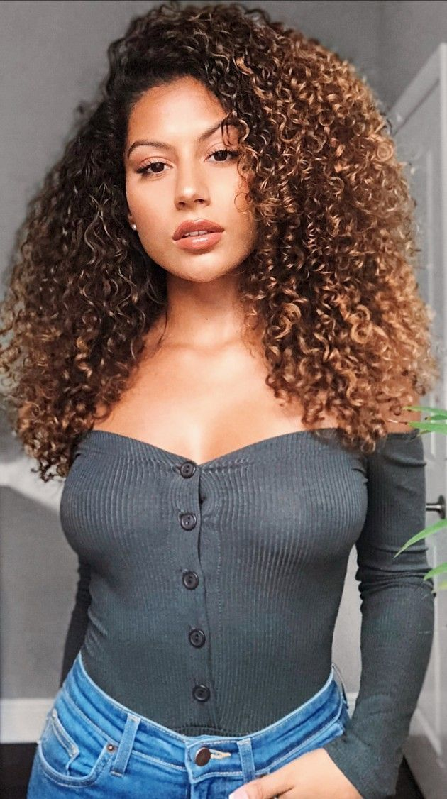 Sexy curly hair girls