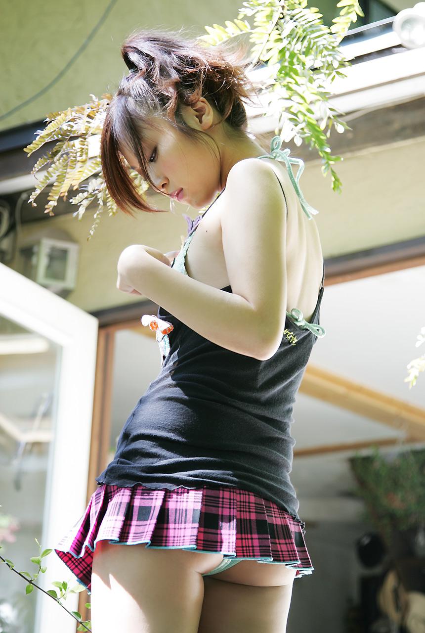 Asian mini skirt naked