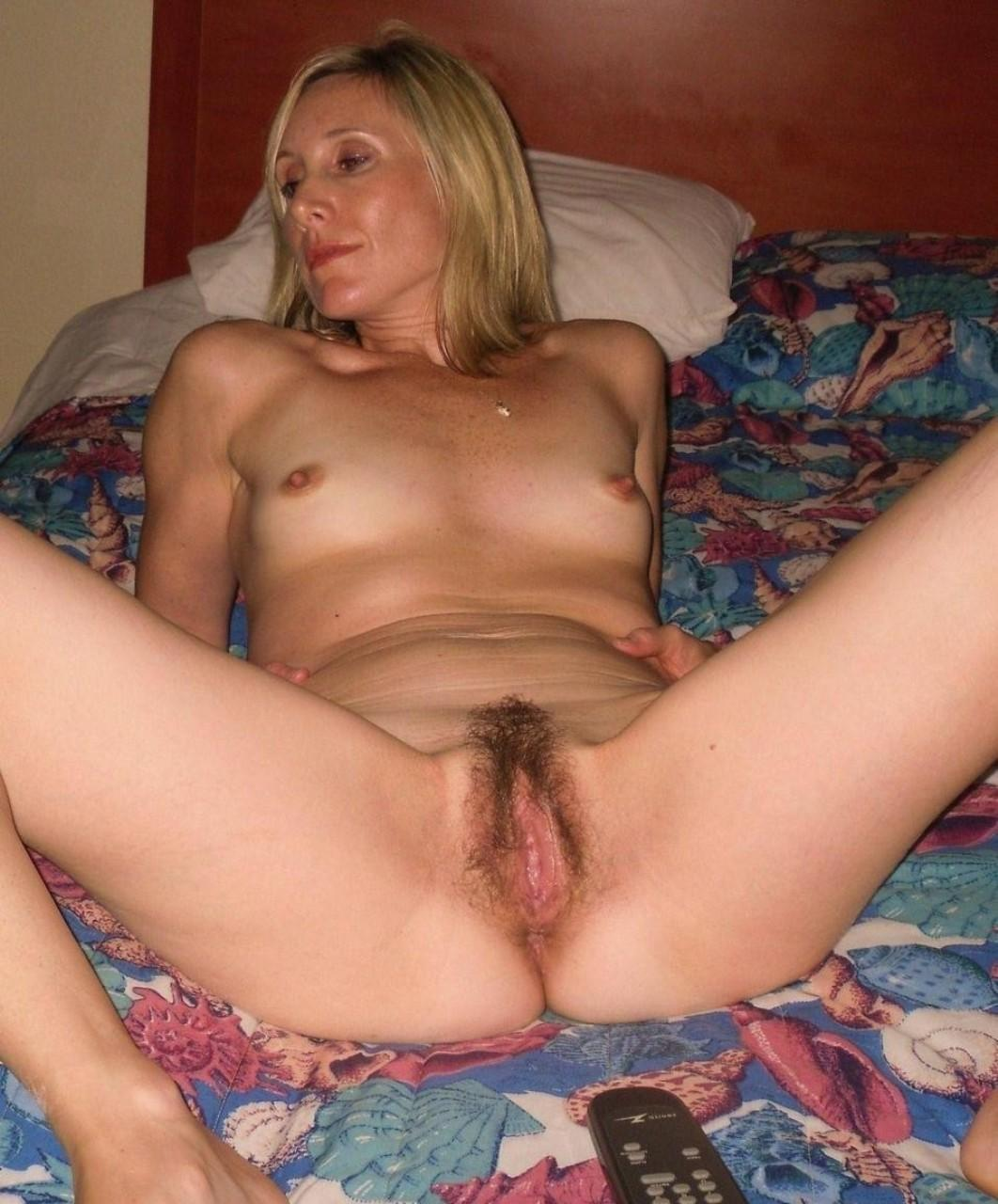 Blonde milf hairy naked