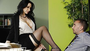 Latina high heels and stockings