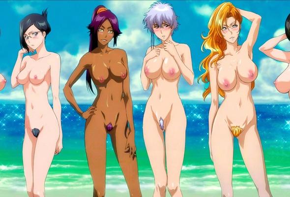 Sexy anime beach girl erotic hentai