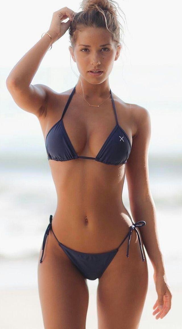 Gorgeous busty wife in bikini