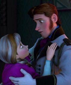 Frozen anna and hans kiss