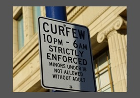 Teen age curfews in cities